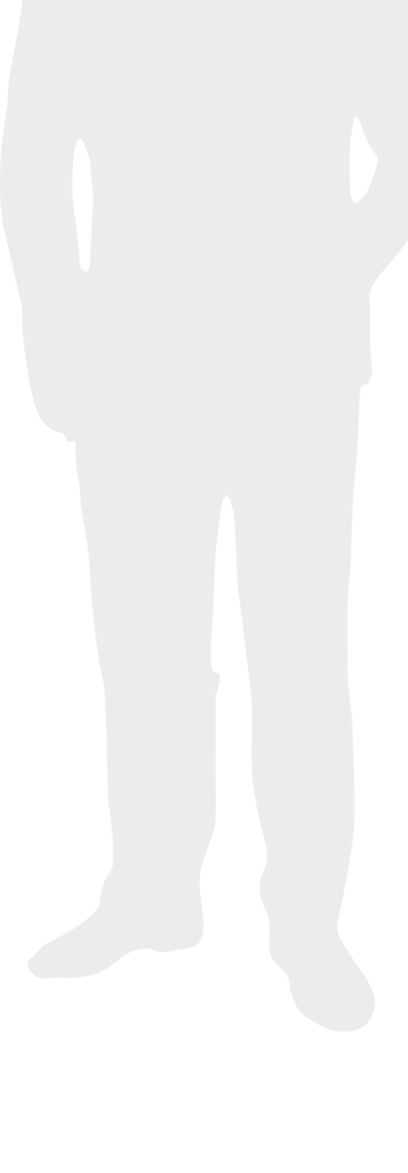 Silhouette of middle-aged man with UTUC